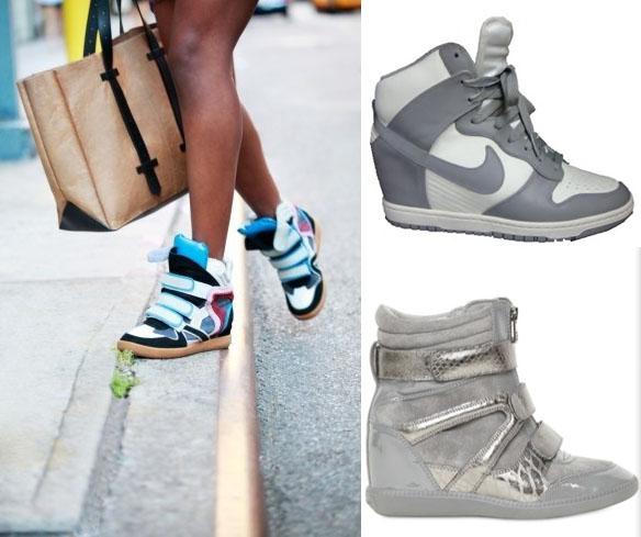scarpe nike con zeppa e brillantini