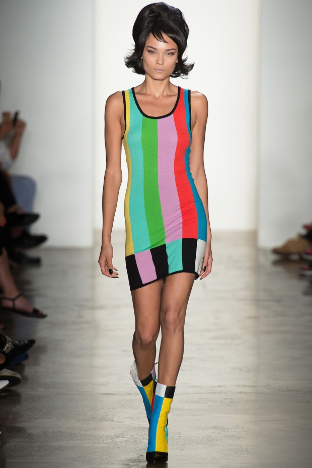 Jeremy-Scott-Spring-2014-colorful-dress