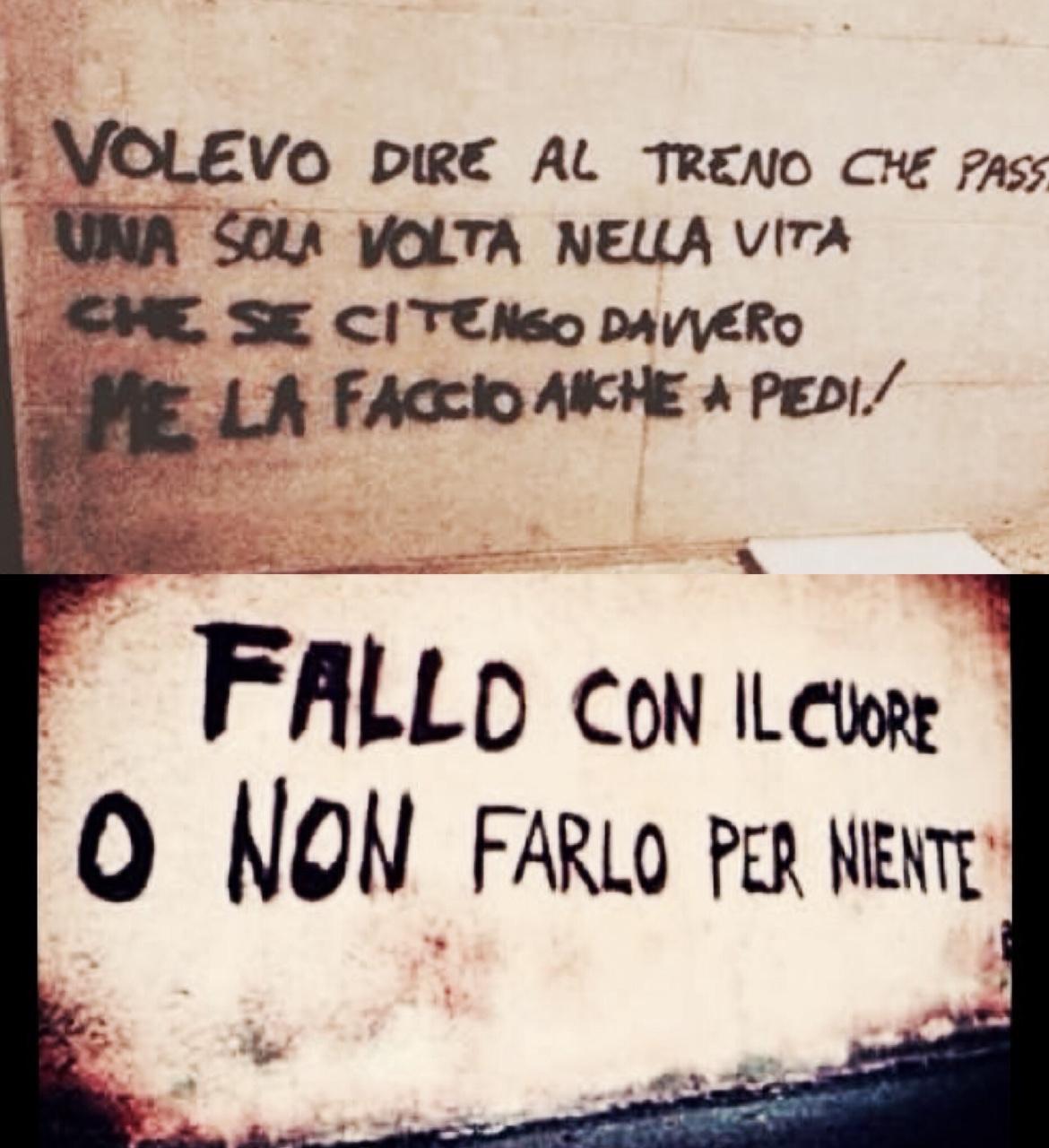 Messaggi d amore sui muri i hate bananas - Frasi scritte sui muri di casa ...